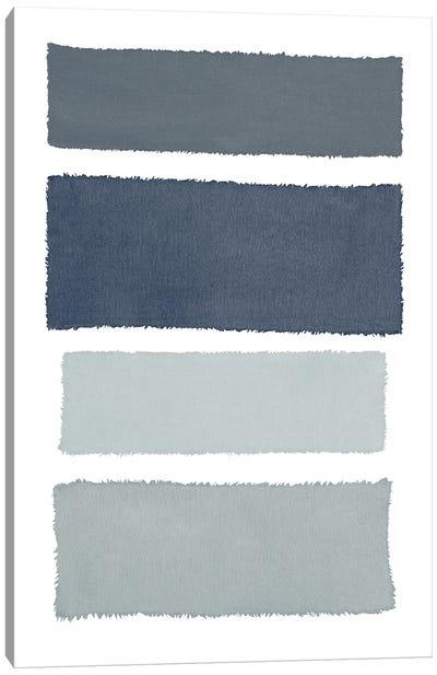 Painted Weaving I Gray Canvas Art Print