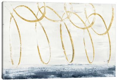 City Beach Gold Canvas Art Print