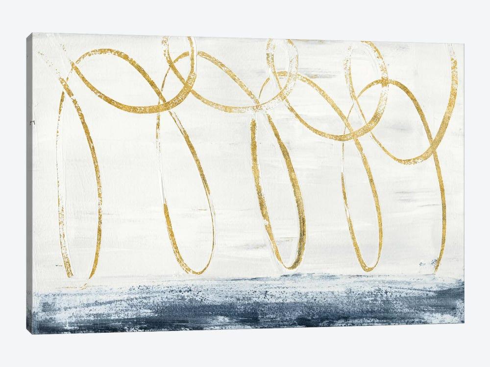 City Beach Gold by Piper Rhue 1-piece Canvas Artwork