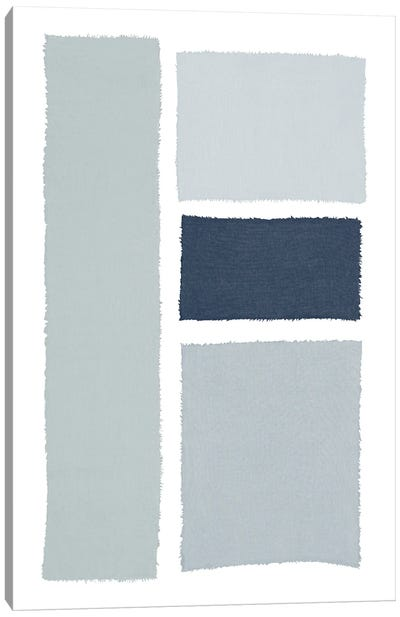 Painted Weaving III Gray Canvas Art Print