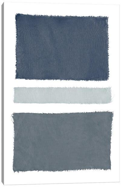 Painted Weaving V Gray Canvas Art Print