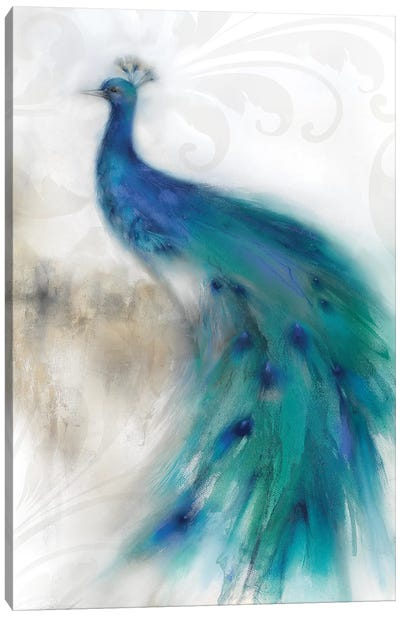 Jewel Plumes II Canvas Art Print