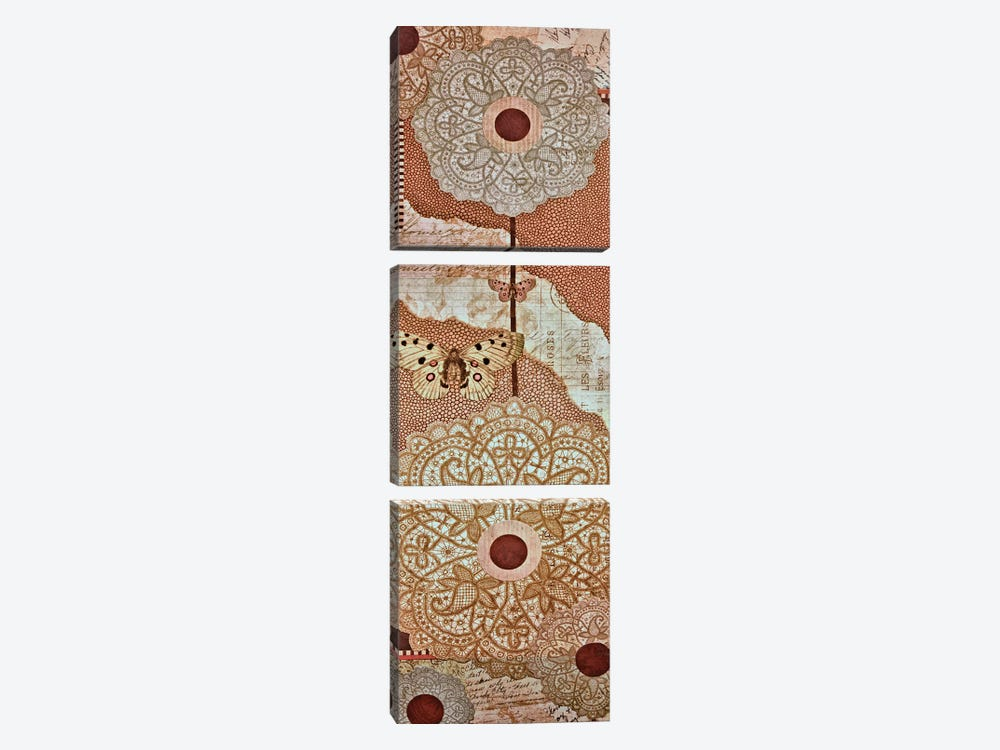 Lace Flower I by Greg Perkins 3-piece Canvas Artwork