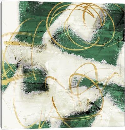 Emerald Mustard Prophecy I Canvas Art Print