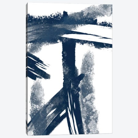 Navy Striking Seams I Canvas Print #PRM134} by Marcus Prime Canvas Art