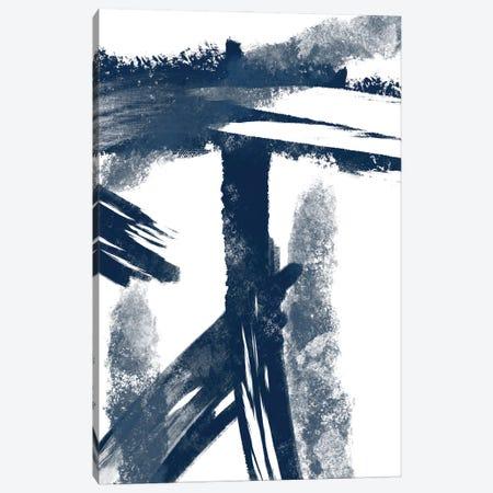Navy Striking Seams I Canvas Print #PRM134} by Marcus Prime Canvas Art