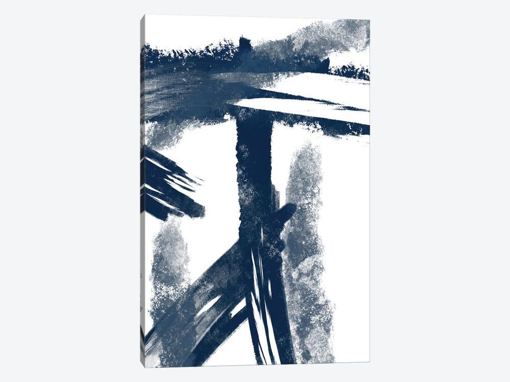 Navy Striking Seams I by Marcus Prime 1-piece Canvas Art