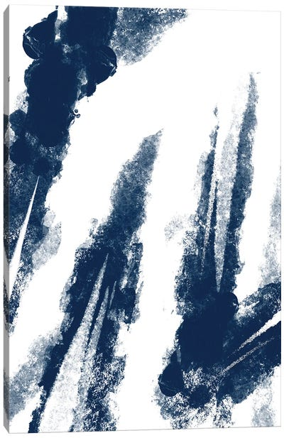 Navy Striking Seams II Canvas Art Print