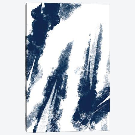 Navy Striking Seams II Canvas Print #PRM135} by Marcus Prime Canvas Artwork