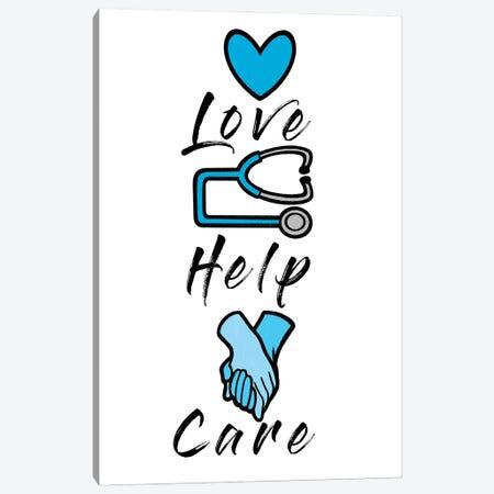 Love Help Care Canvas Print #PRM146} by Marcus Prime Art Print