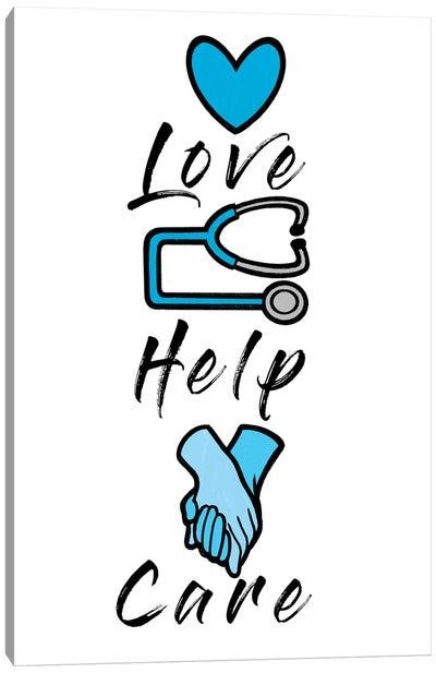 Love Help Care Canvas Art Print