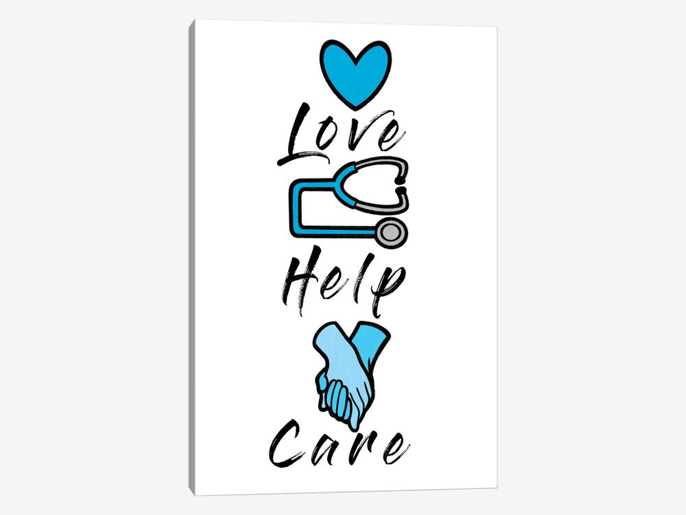 Love Help Care by Marcus Prime 1-piece Art Print