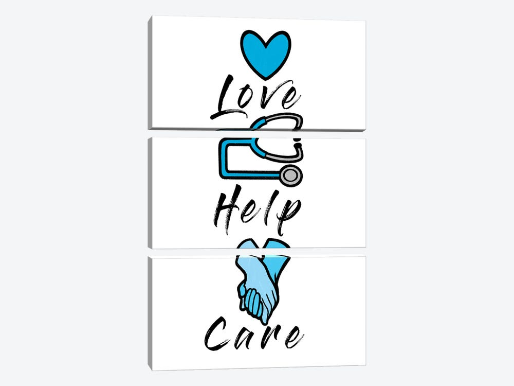 Love Help Care by Marcus Prime 3-piece Art Print