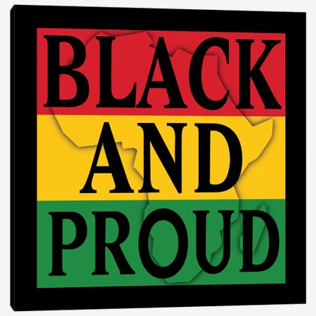 Black and Proud I Canvas Print #PRM149} by Marcus Prime Canvas Art