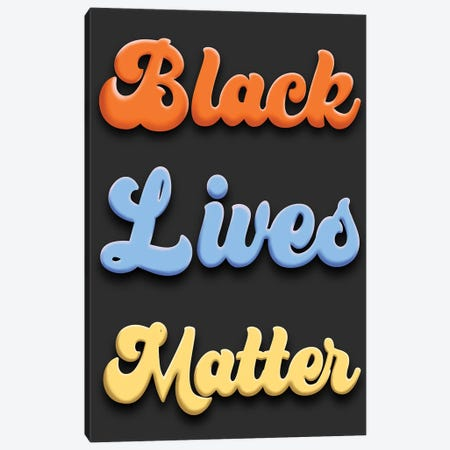 Bright BLM Canvas Print #PRM155} by Marcus Prime Canvas Wall Art