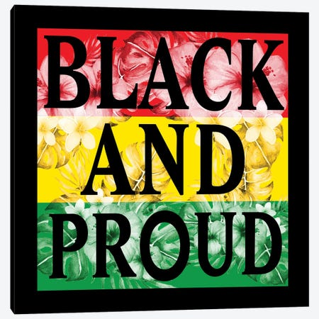 Flower Black and Proud Canvas Print #PRM160} by Marcus Prime Canvas Artwork
