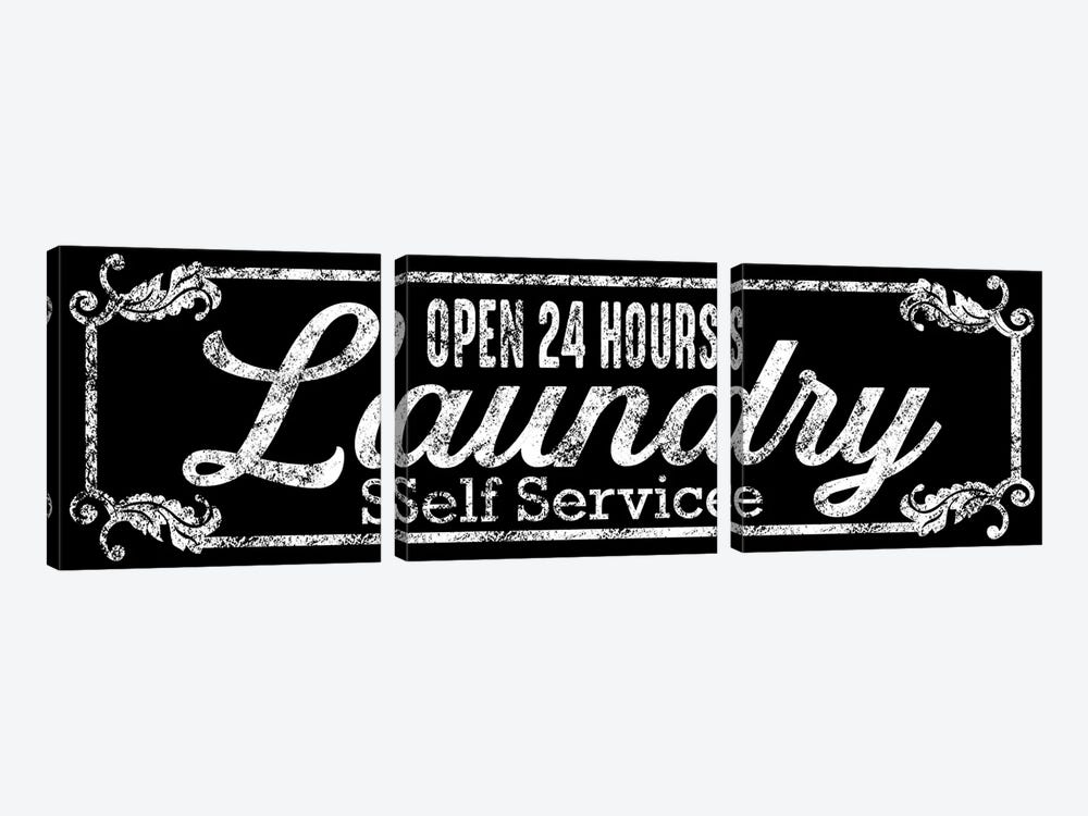 Laundry Self Service by Marcus Prime 3-piece Canvas Art