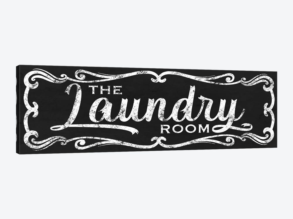 The Laundry Room Black by Marcus Prime 1-piece Canvas Wall Art