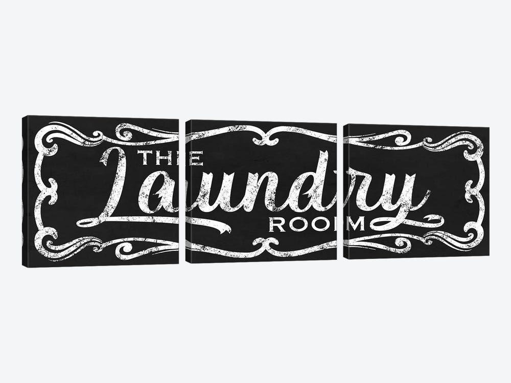 The Laundry Room Black by Marcus Prime 3-piece Canvas Wall Art