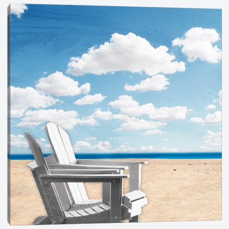 Beach Relaxing I Canvas Print #PRM1} by Marcus Prime Art Print