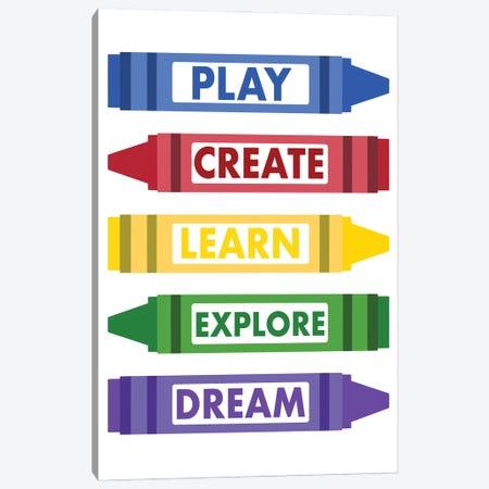 Colorful Rules Canvas Print #PRM213} by Marcus Prime Canvas Art