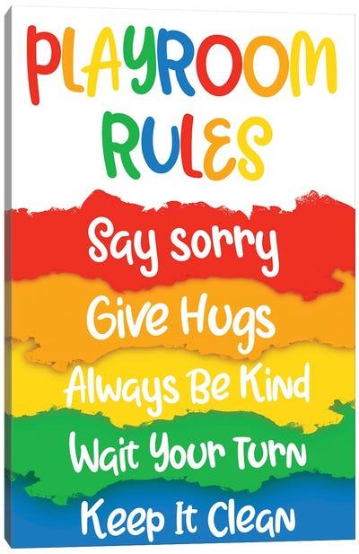 Playroom Rules Canvas Art Print