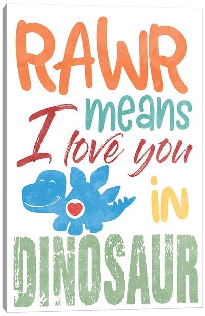 Rawr Love Canvas Art Print