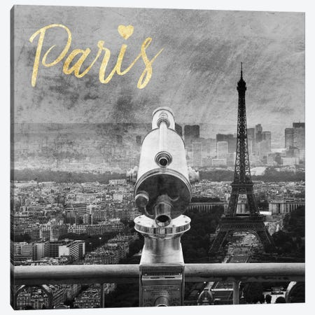 Paris Love II Canvas Print #PRM23} by Marcus Prime Canvas Artwork