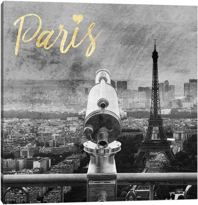 Paris Love II Canvas Art Print