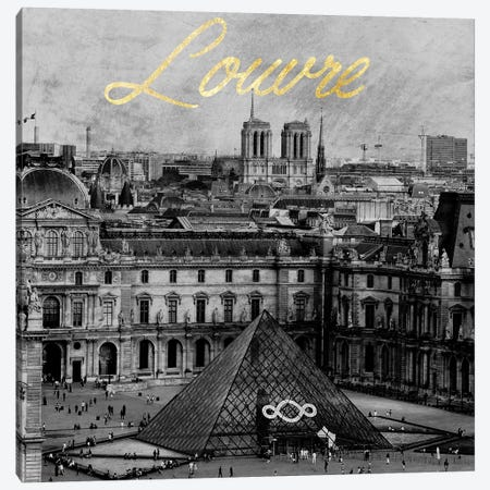 The Louvre 3-Piece Canvas #PRM24} by Marcus Prime Canvas Art Print