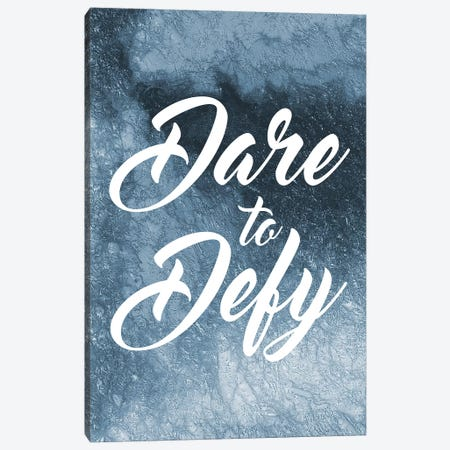 Dare To Defy Canvas Print #PRM26} by Marcus Prime Art Print