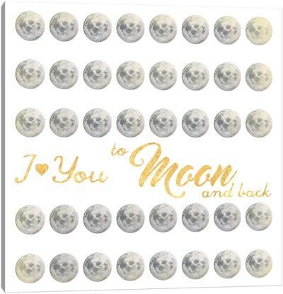 Moon And Back I Canvas Art Print