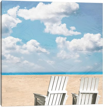 Beach Relaxing II Canvas Art Print