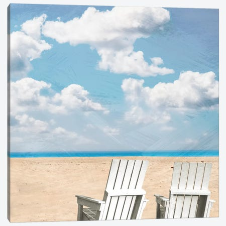 Beach Relaxing II 3-Piece Canvas #PRM2} by Marcus Prime Canvas Print