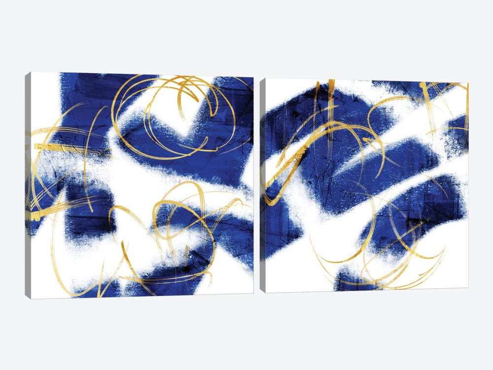 Indio Mustard Prophecy Diptych by Marcus Prime 2-piece Canvas Art Print