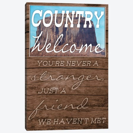Country Welcome Canvas Print #PRM31} by Marcus Prime Canvas Art Print