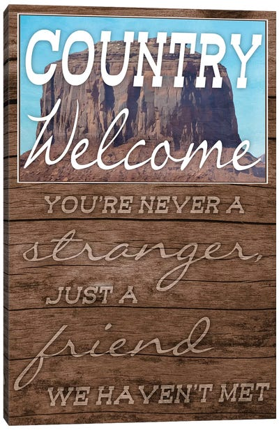 Country Welcome Canvas Art Print