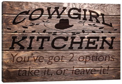 Cowgirl Kitchen Canvas Art Print