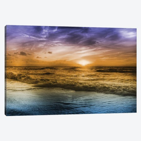 Striking Sunrise Canvas Print #PRM57} by Marcus Prime Canvas Art