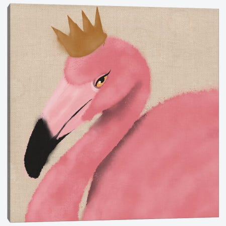 Flamingo King I Canvas Print #PRM64} by Marcus Prime Canvas Print