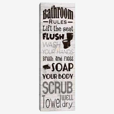 Bath Rules Canvas Print #PRM79} by Marcus Prime Canvas Print