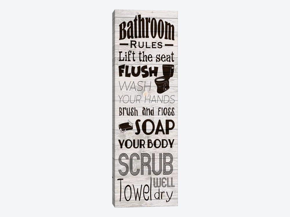 Bath Rules by Marcus Prime 1-piece Canvas Print