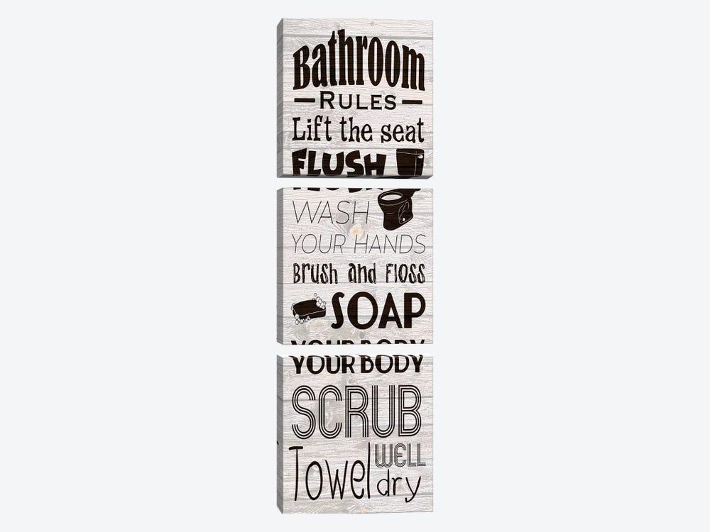 Bath Rules by Marcus Prime 3-piece Art Print