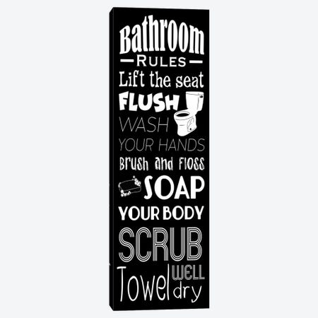 Bath Rules BW Canvas Print #PRM80} by Marcus Prime Canvas Art