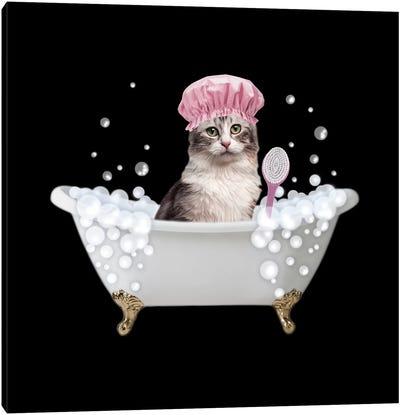 Fun Kitty Bath 3 Canvas Art Print