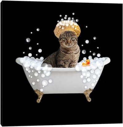 Fun Kitty Bath 4 Canvas Art Print