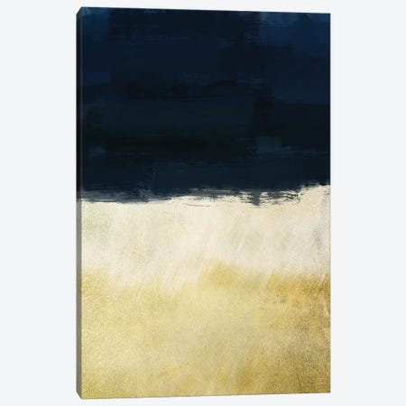 Gold Indigo Shuffle I Canvas Print #PRM8} by Marcus Prime Canvas Print