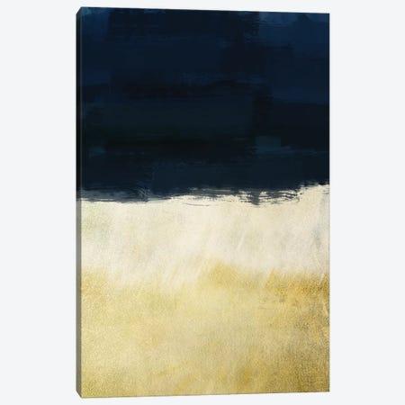 Gold Indigo Shuffle I Canvas Print #PRM8} by Marcus Prime Canvas Print
