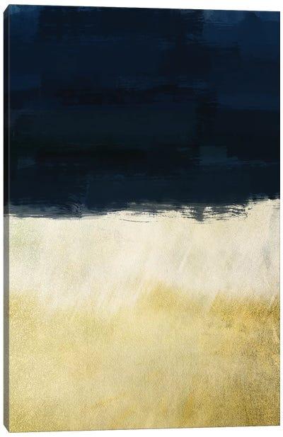 Gold Indigo Shuffle I Canvas Art Print