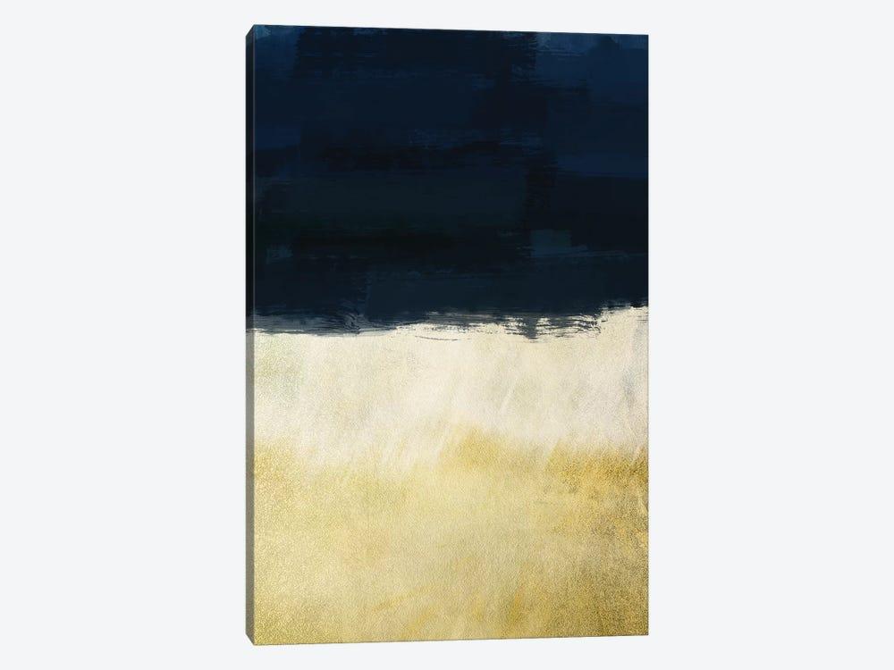Gold Indigo Shuffle I by Marcus Prime 1-piece Canvas Artwork